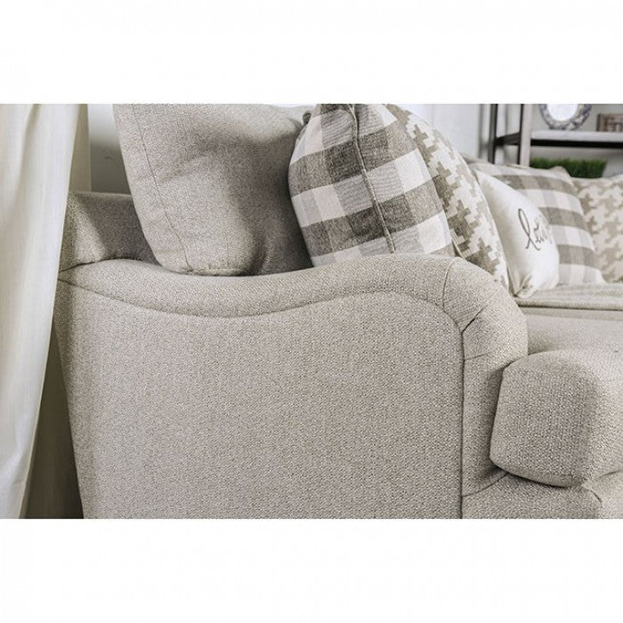 Christine  Light Gray Transitional Sofa