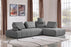 Cloud 2PC Lounge Seating Platforms with Moveable Backrest Supports in Space Grey Fabric - Space Grey