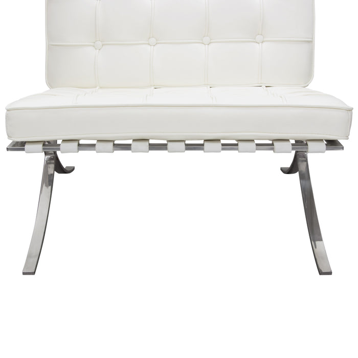 Cordoba Tufted Chair With Stainless Steel Frame
