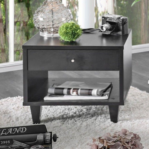 Delores Espresso Transitional End Table