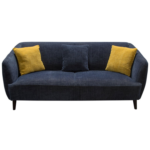 DeLuca Midnight Blue Fabric Sofa and Loveseat 2PC Set - Navy