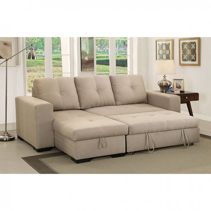 Denton Ivory Transitional Style Sectional