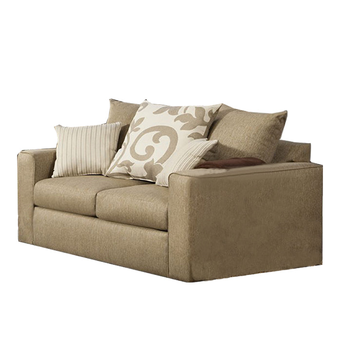 Fabric Loveseat Beige Transitional