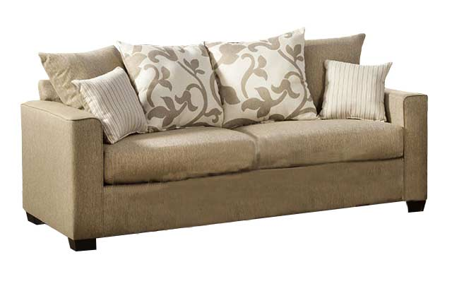 Fabric Sofa Beige Transitional