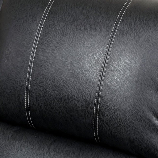 Gaffey Leather Black Contemporary Recliner