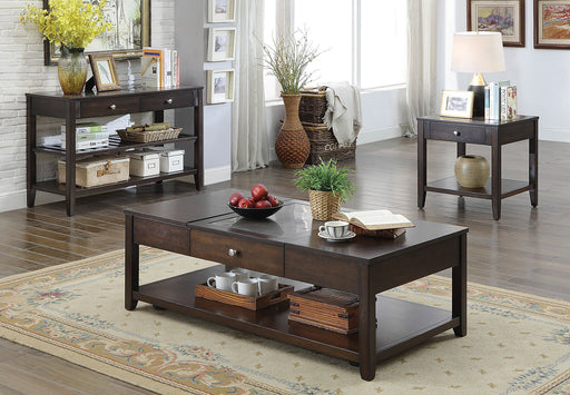 Genesis Espresso Transitional End Table