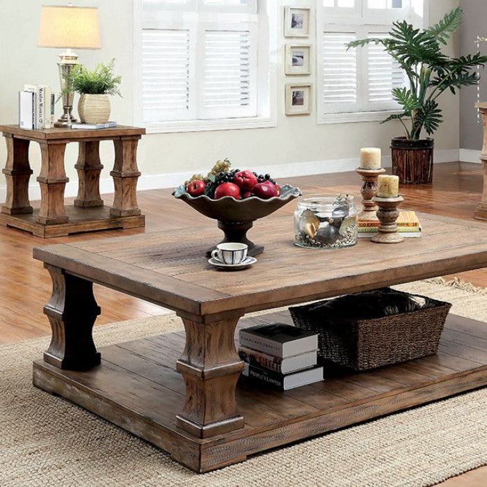 Granard Solid Wood Coffee Table W Wooden Top