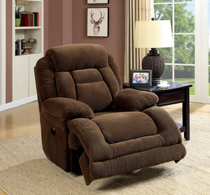 Grenville Flannelette Brown Transitional Motion Recliner