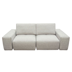 Jazz Modular 2-Seater with Adjustable Backrests in Light Brown Fabric - Barley