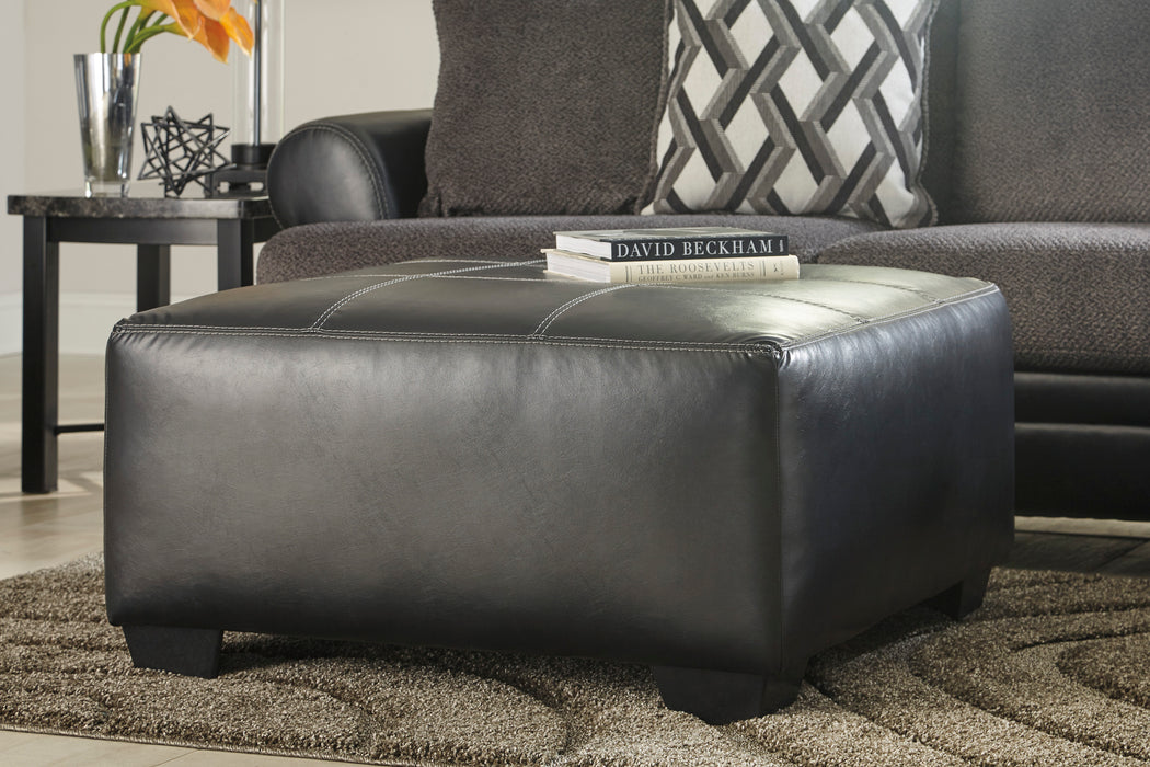 accent ottoman ashley oversized black sofa table leatherette leather