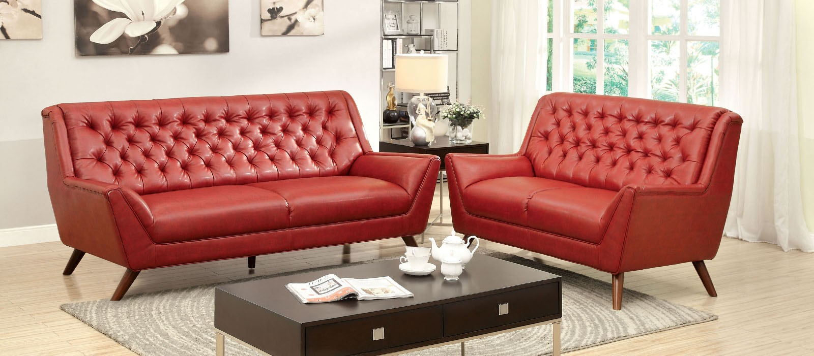 LEIA BONDED LEATHER SOFA