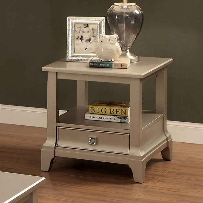 LETITIA SOLID WOOD END TABLE