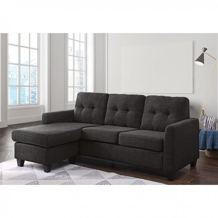 Macey Linen Gray Contemporary Solid Wood Sectional