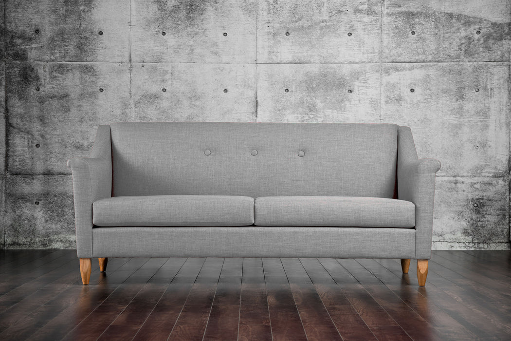 Mallory Fabric Light Gray Mid-Century Modern Sofa