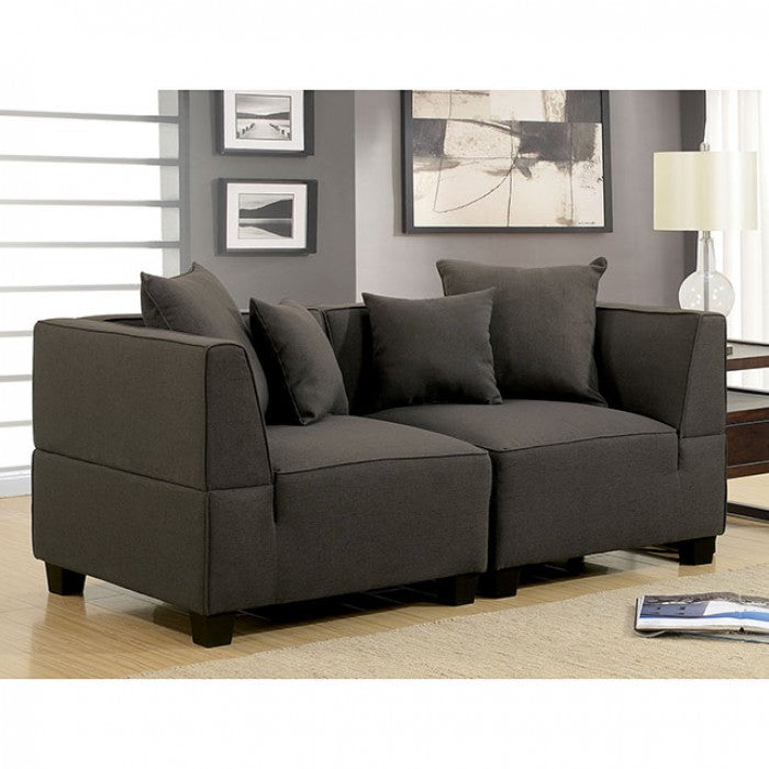 Marian Contemporary Gray Sectional Sofa Shack