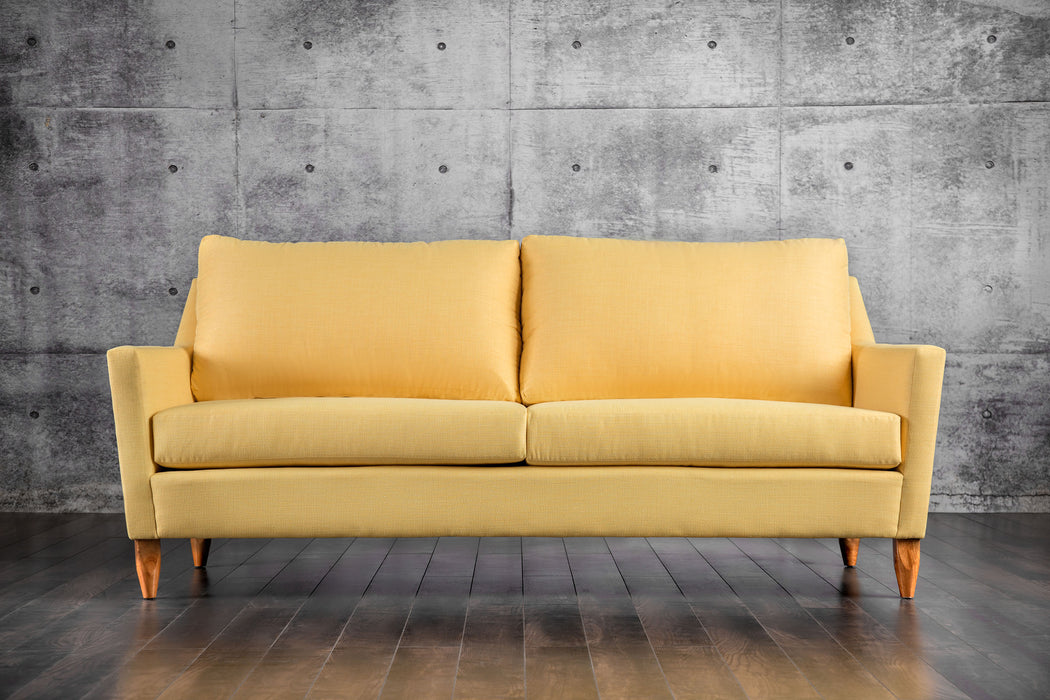 Marilyn Fabric Yellow Mid-Century Modern Sofa