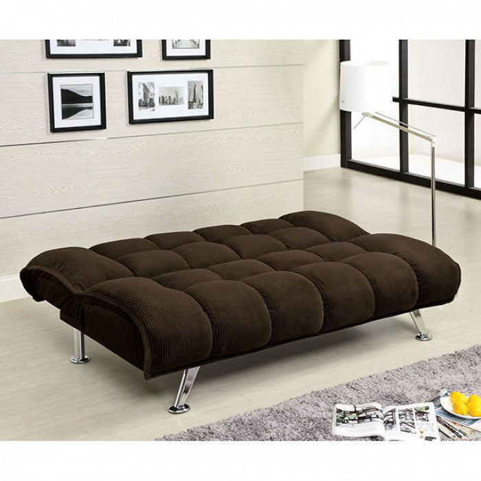 Maybelle Corduroy Chocolate Contemporary Sofa