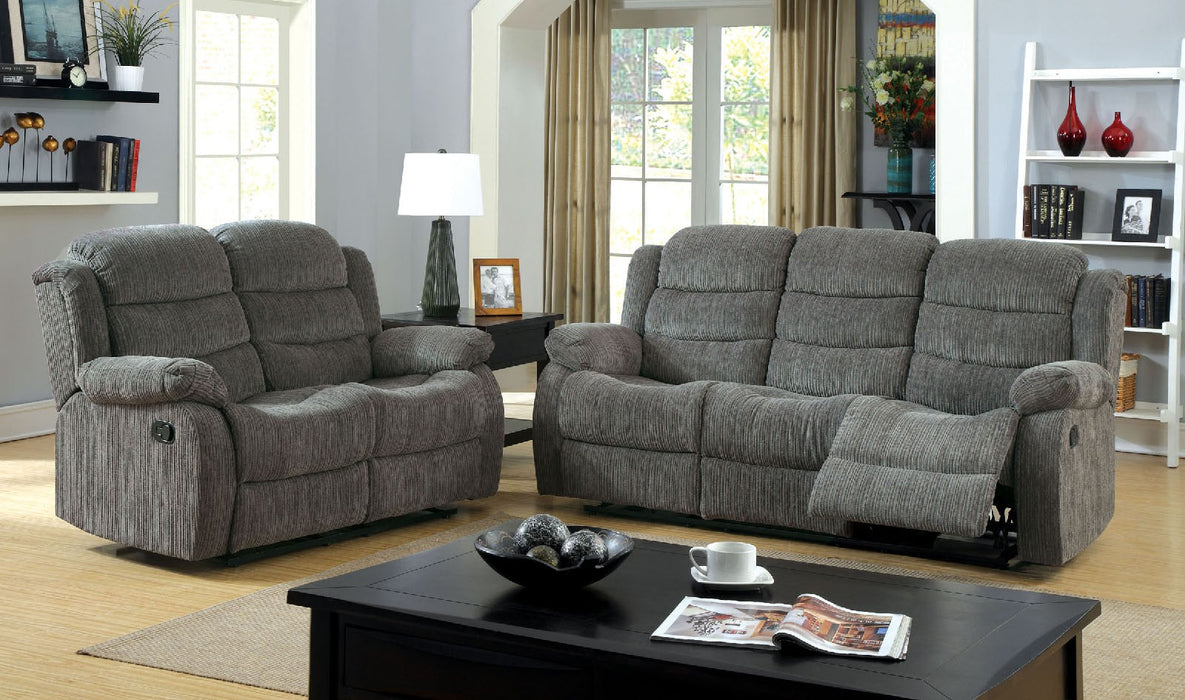 Millville Chenille Grey Transitional Sofa