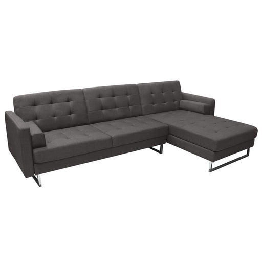 Opus Convertible Tufted RF Chaise Sectional - Grey