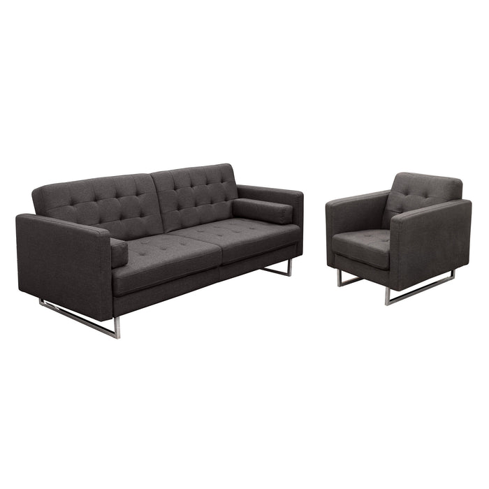 Incredible Opus Convertible Tufted Sofa With Chair Set Machost Co Dining Chair Design Ideas Machostcouk