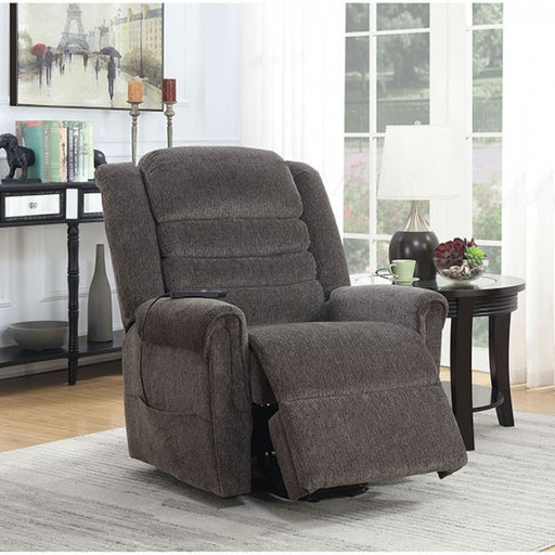 Ovar Chenille Brown Traditional Recliner
