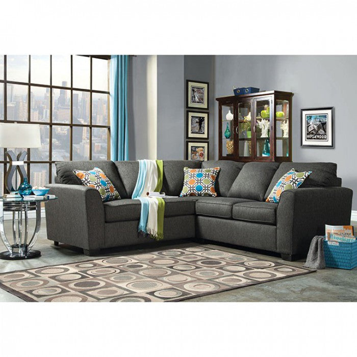 Playa Gray Transitional Fabric Sectional