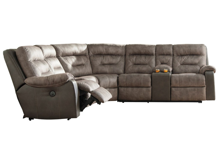 HACKLESBURY 3-PIECE RECLINING SECTIONAL WITH POWER