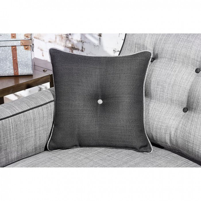 Ravel I Fabric Gray Contemporary Sofa