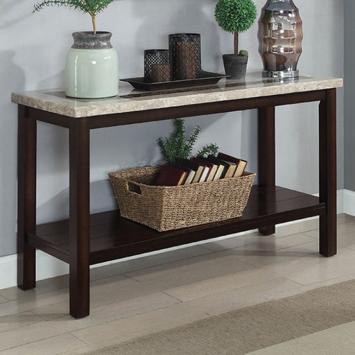 Rosetta Dark Walnut Transitional Sofa Table