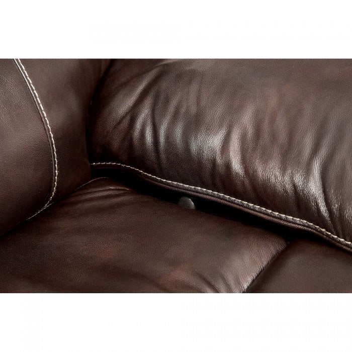 Ruth Brown Leather Sectional