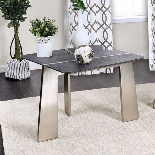 Shannon Gray Champagne Contemporary End Table