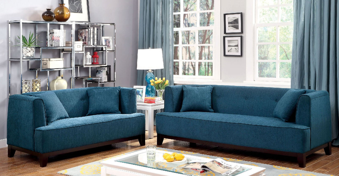 Sofia Fabric Dark Teal Transitional Sofa