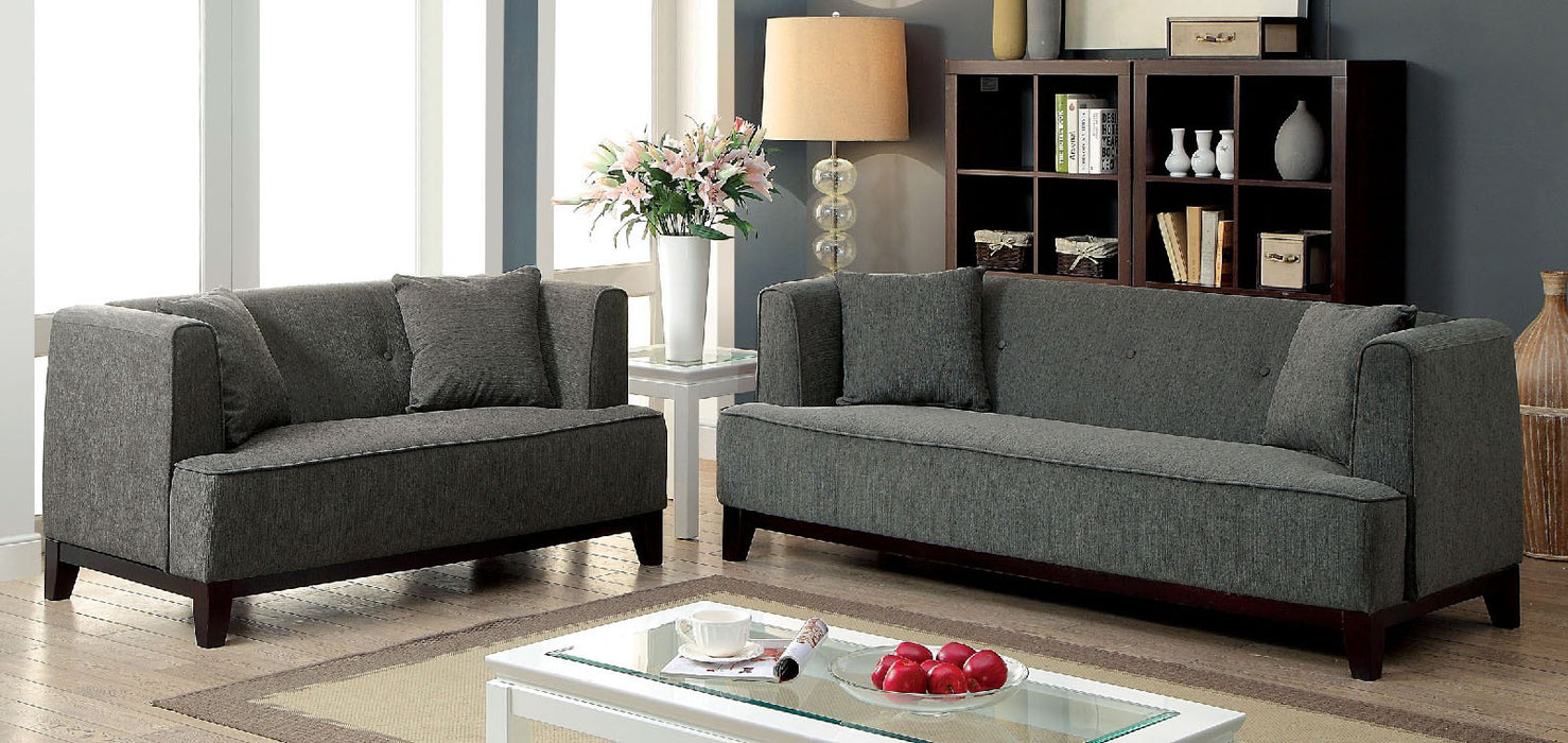 Sofia Fabric Gray Transitional Sofa