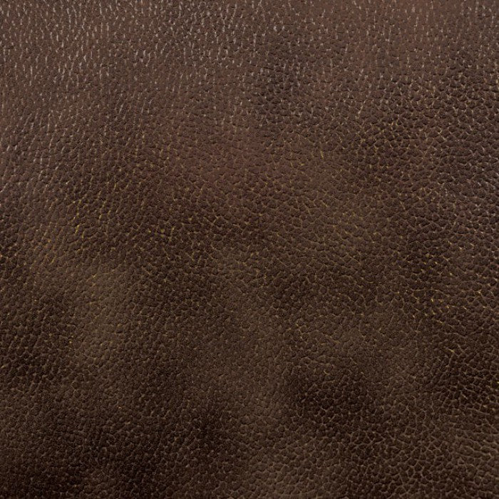 Stallion Top Grain Leather Match Rustic Dark Brown Transitional Sofa