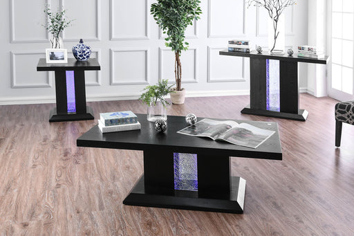 Tobias Black Contemporary End Table