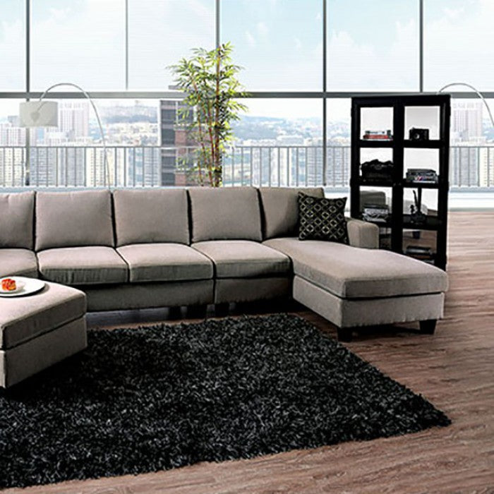 Traci Contemporary Linen Sectional
