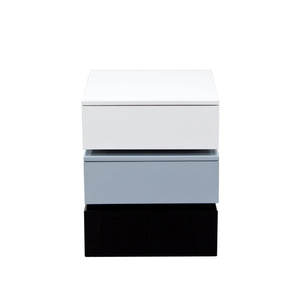 Tri Color Accent Table With 2 Drawer Storage