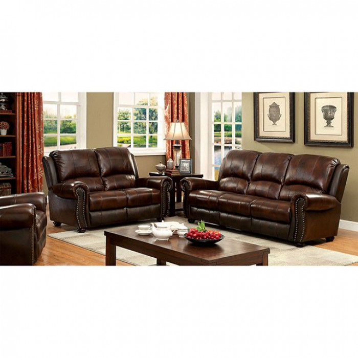TURTON GRAIN LEATHER SOFA