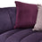 Venus Sofa in Violet Velvet with Contrasting Pillows and Gold Finished Metal Base - Violet
