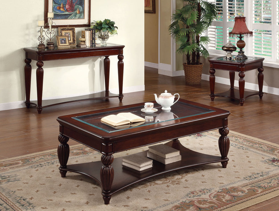 WINDSOR TEMPERED GLASS SOFA TABLE