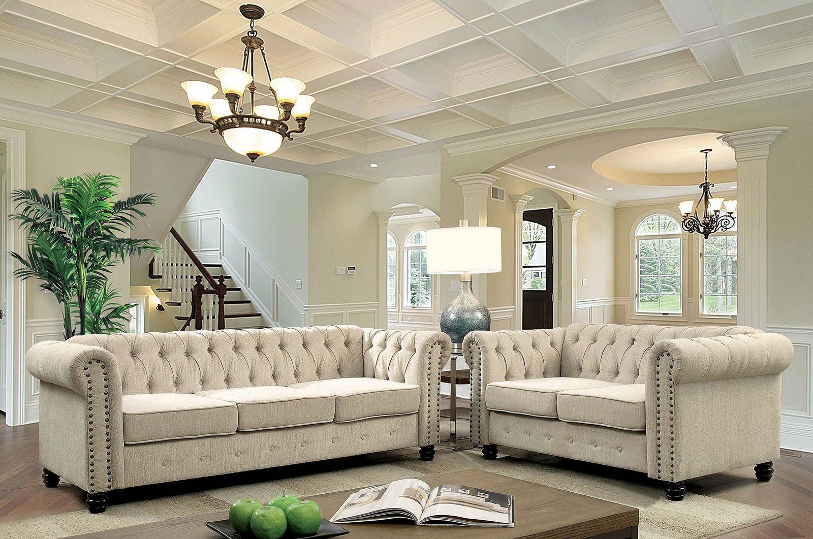 Winifred Ivory Traditional Sofa