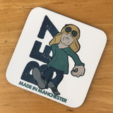 6 x Made In Manchester Legends Square Cup Coasters - Designed By Parka Monkey