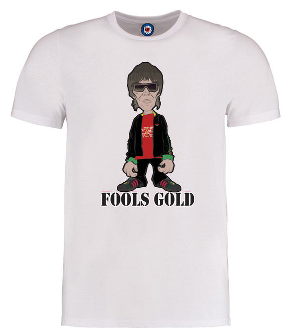 Fools Gold Ian Brown Designed By Parka Monkey T-Shirt - 7 Colours