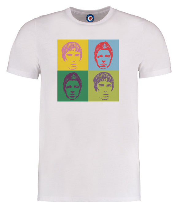 Oasis Noel & Liam Gallagher Andy Warhol Pop Art T-Shirt