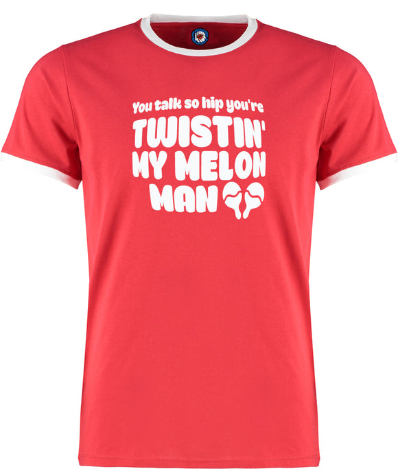 Happy Mondays You're Twistin' My Melon Man Quality Ringer T-Shirt - 5 Colours