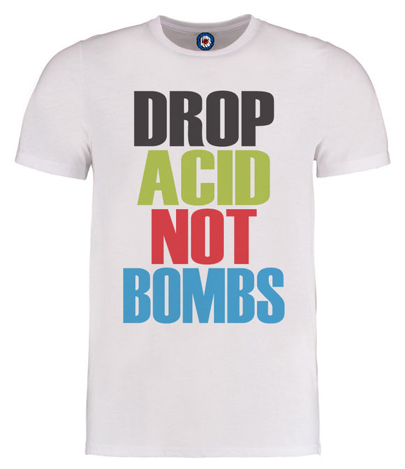 Drop Acid Not Bombs Bez Happy Mondays T-Shirt