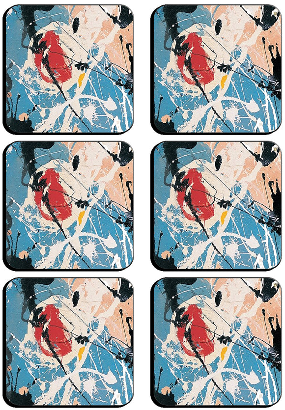 6 x adored Square Cup Coasters