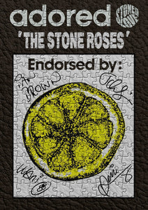 Adored Stone Roses Signed Lemon Jigsaw Puzzle - Size A3 (40x29cm)  - 384 Pieces