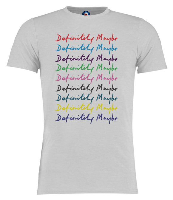 Definitely Maybe Multi Colour Oasis T-Shirt
