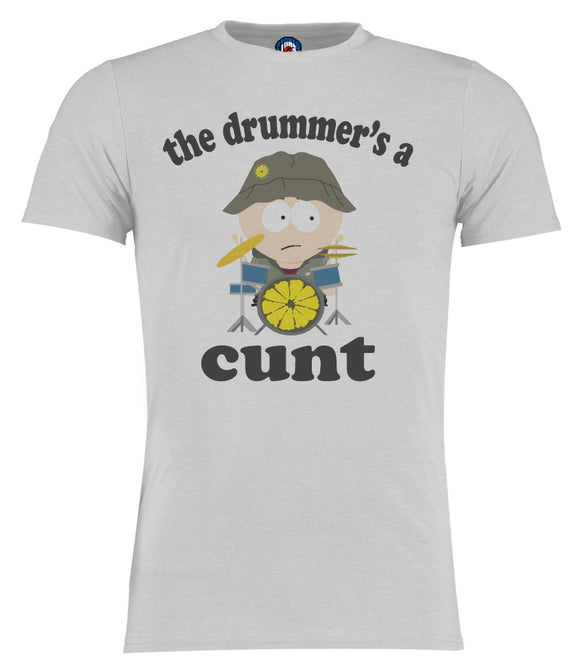 The Drummer's A Cunt Reni South Park Style Stone Roses T-Shirt